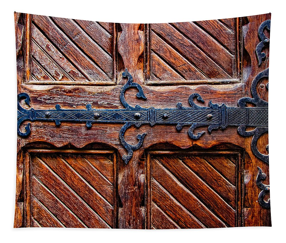 Door Tapestry featuring the photograph Heavy Duty by Christopher Holmes