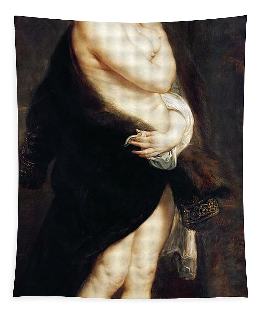 Helena Tapestry featuring the painting Helena Fourment In A Fur Wrap by Rubens