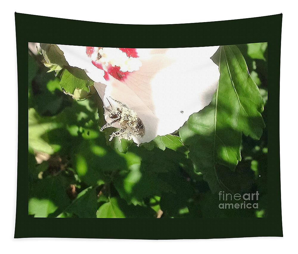 Bumble Tapestry featuring the photograph Help I'm Falling by Debra Lynch