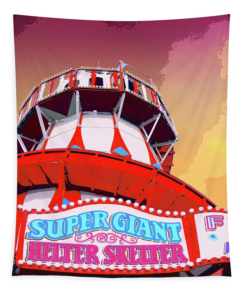 Helter Skelter Tapestry featuring the mixed media Helter Skelter by Dominic Piperata