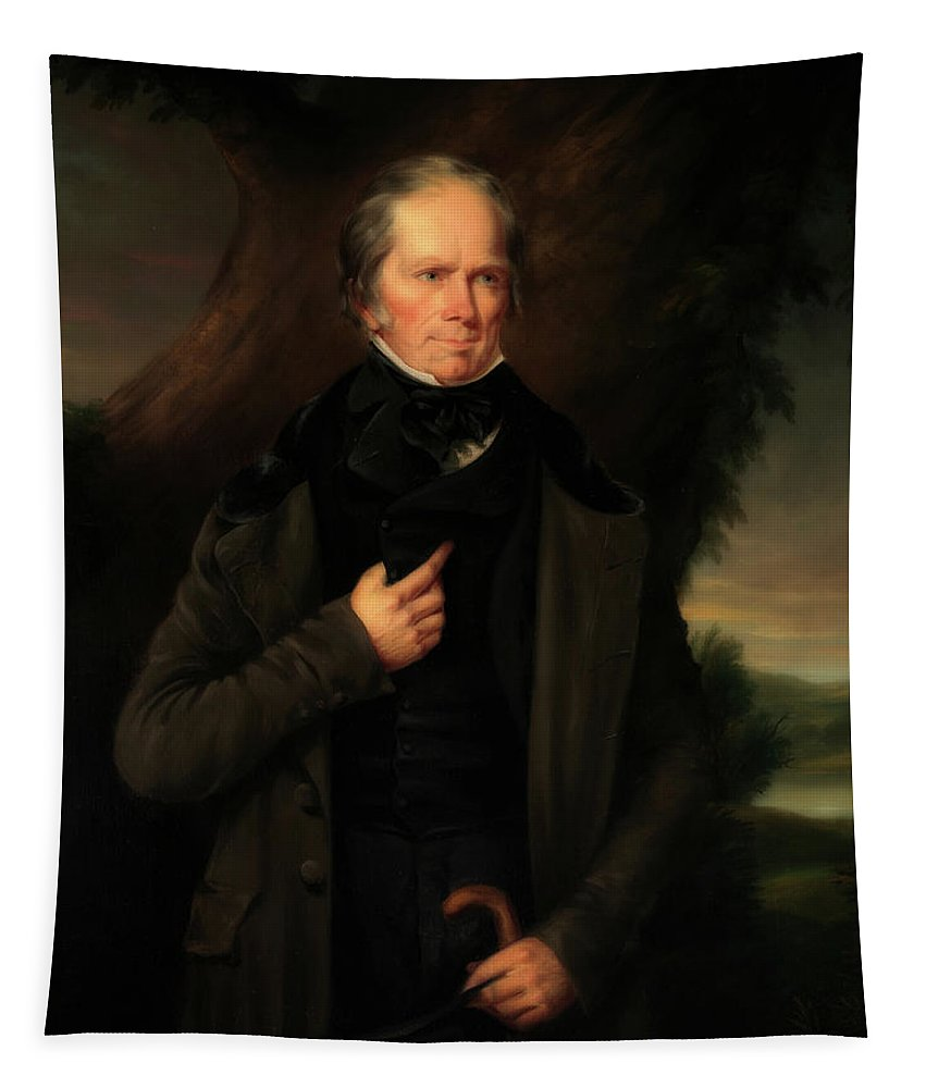 Painting Tapestry featuring the painting Henry Clay by Theodore Moise