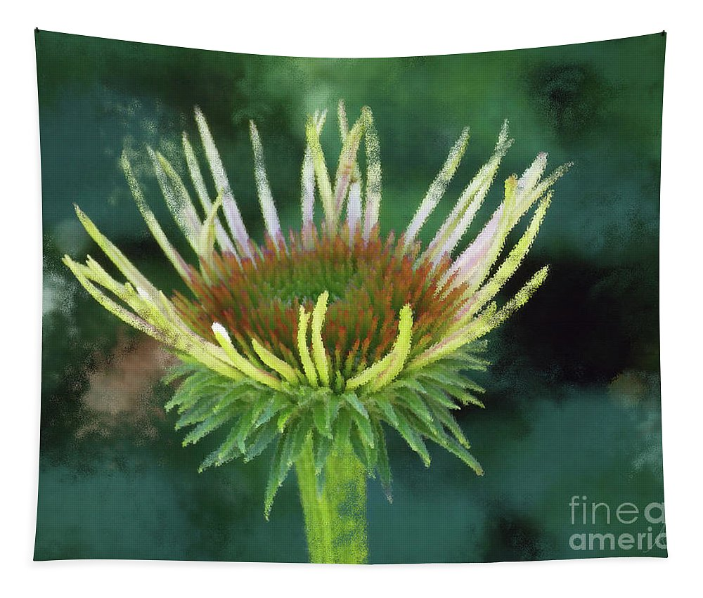 Herbaceous Beginning Tapestry featuring the digital art Herbaceous Beginning by Anita Faye