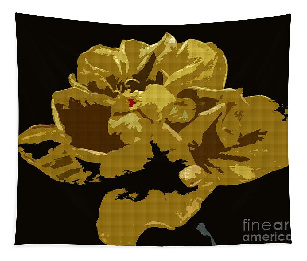 Flower Tapestry featuring the photograph Hibiscus 14 by Barbie Corbett-Newmin
