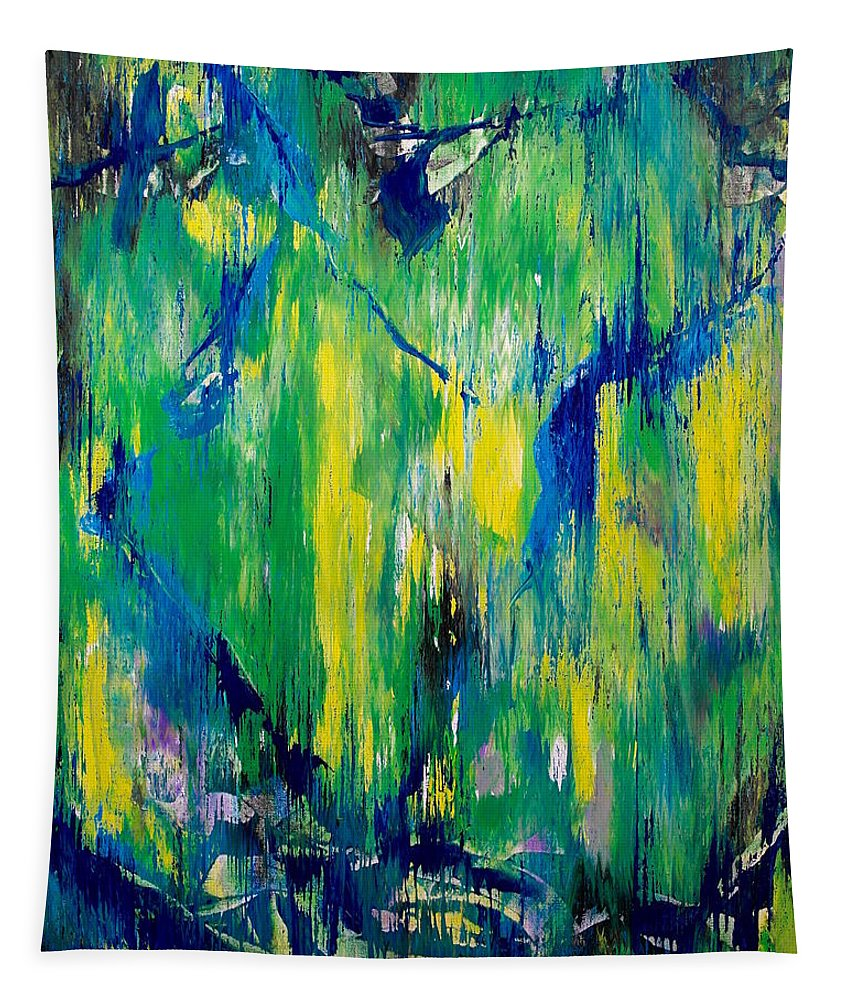 Abstract Tapestry featuring the painting Hidden Agenda by Wayne Cantrell