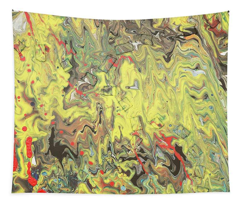Acrylic Tapestry featuring the mixed media Hidden Shapes by David Brewer