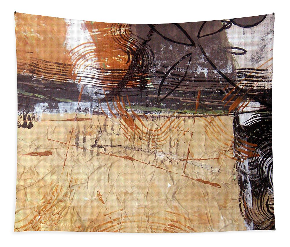 Abstract Tapestry featuring the painting Hidden Treasures II by Ruth Palmer