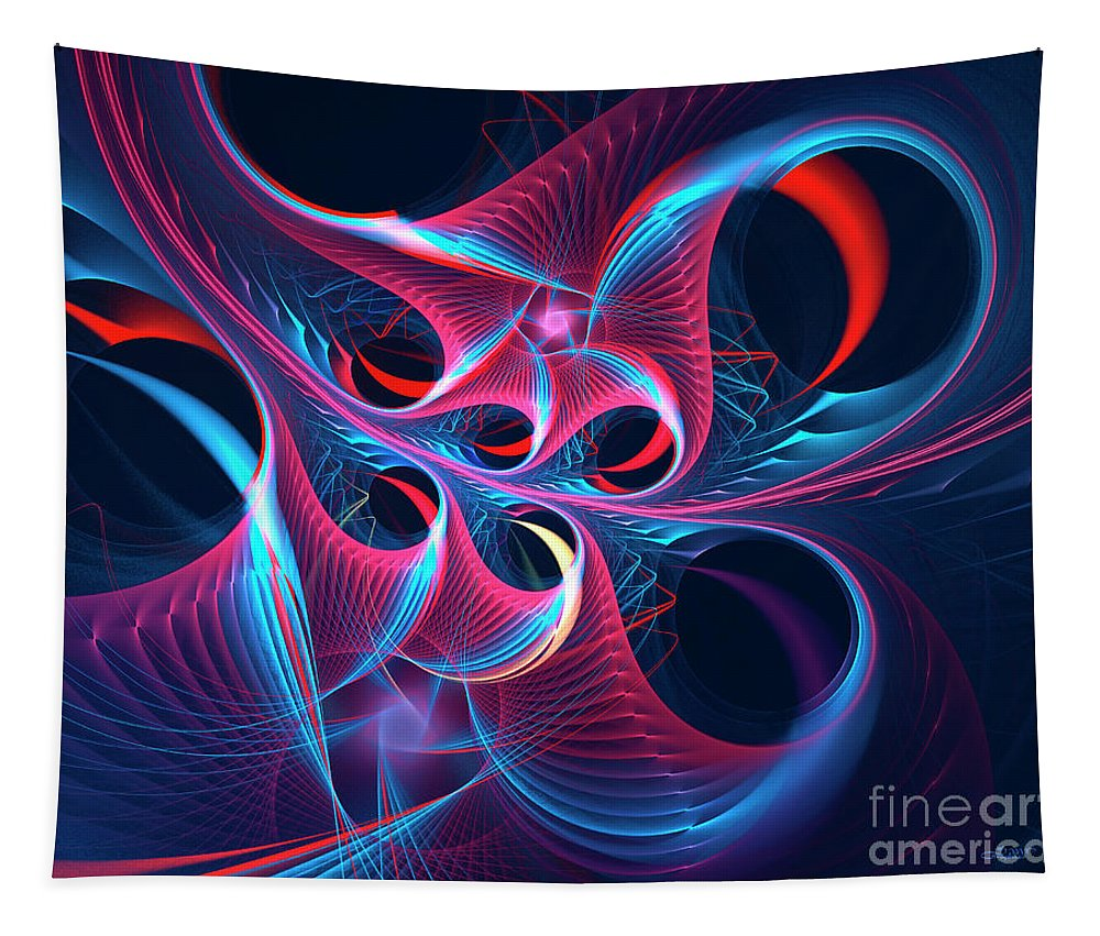 Fractal Tapestry featuring the digital art High On Emotion by Jutta Maria Pusl