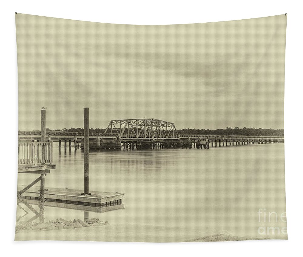 2 Tapestry featuring the photograph Highway 41 Bridge Built In 1939 by Dale Powell