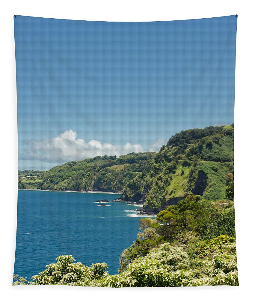 Highway To Heaven Tapestry featuring the photograph Highway To Heaven Hana Highway Maui Hawaii by Sharon Mau