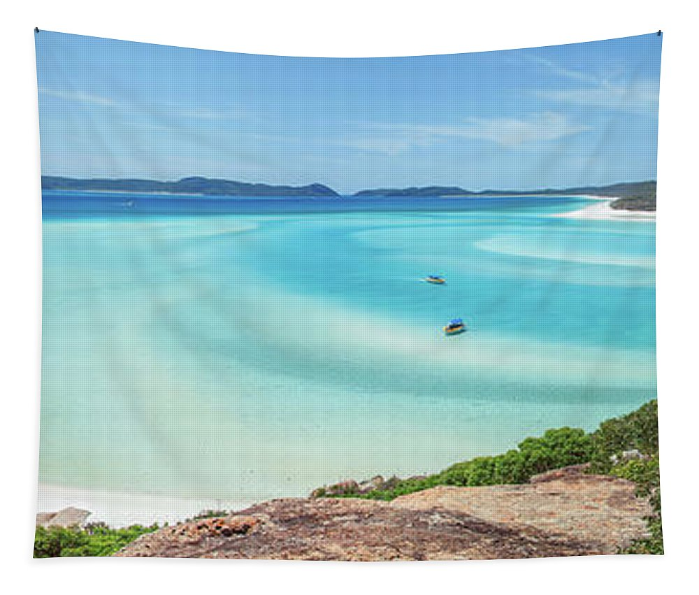 Australia Tapestry featuring the photograph Hill Inlet Lookout by Az Jackson