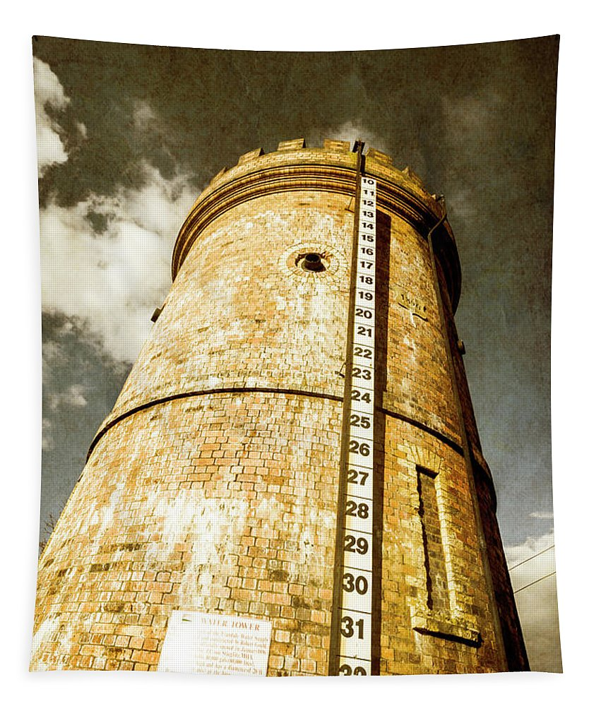 Tower Tapestry featuring the photograph Historic Water Storage Structure by Jorgo Photography - Wall Art Gallery