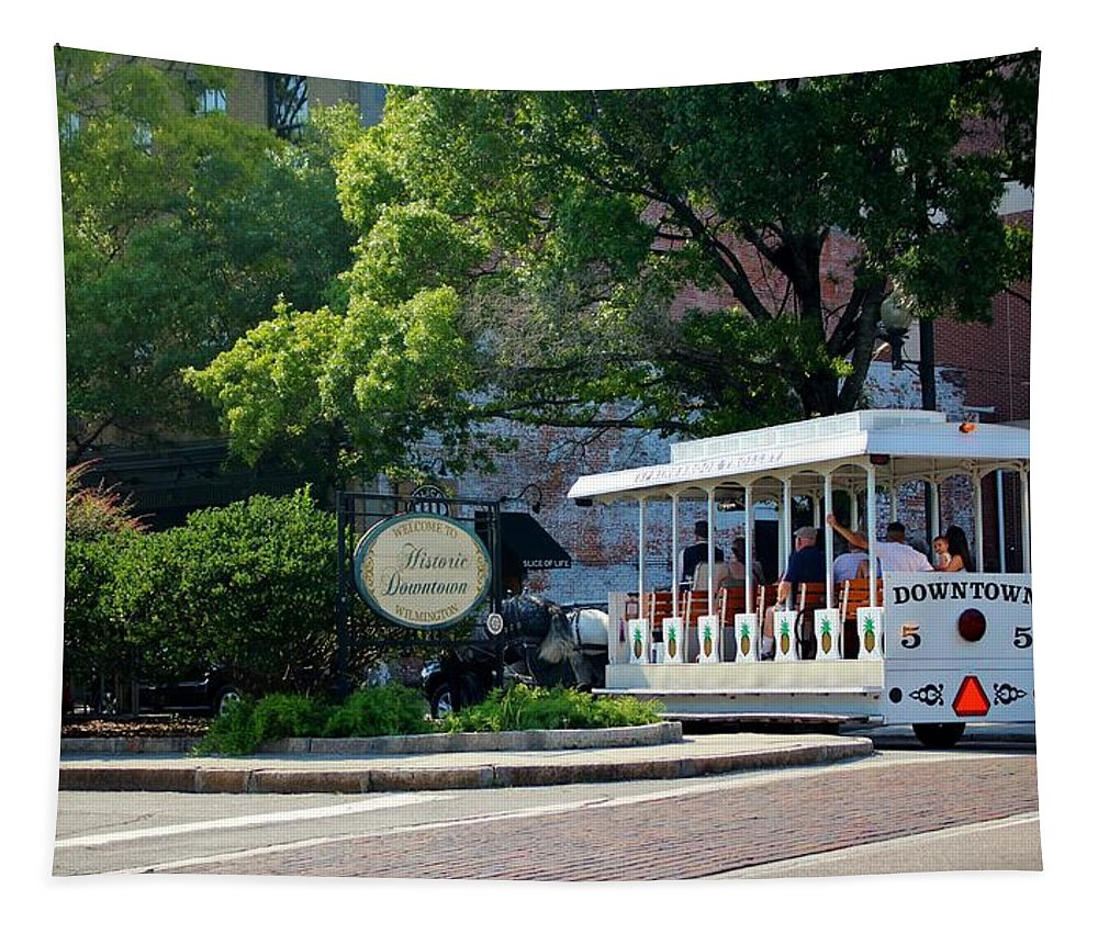 Historical Tapestry featuring the photograph Historical Tour by Cynthia Guinn