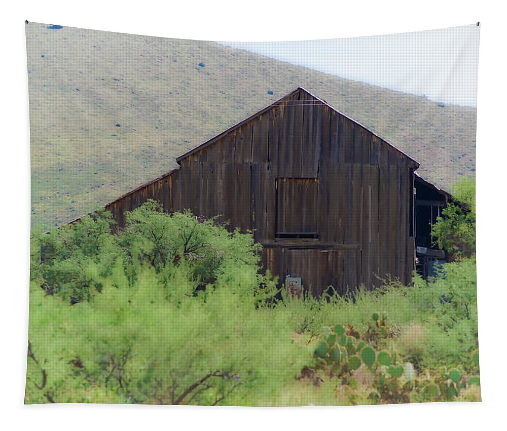 Landscape Tapestry featuring the photograph History In A Barn by Darryl Treon