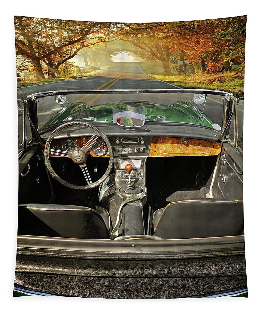 Cars Tapestry featuring the photograph Hit The Road by John Anderson