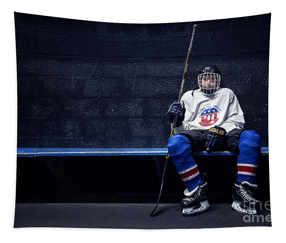 Kremsdorf Tapestry featuring the photograph Hockey Strong by Evelina Kremsdorf