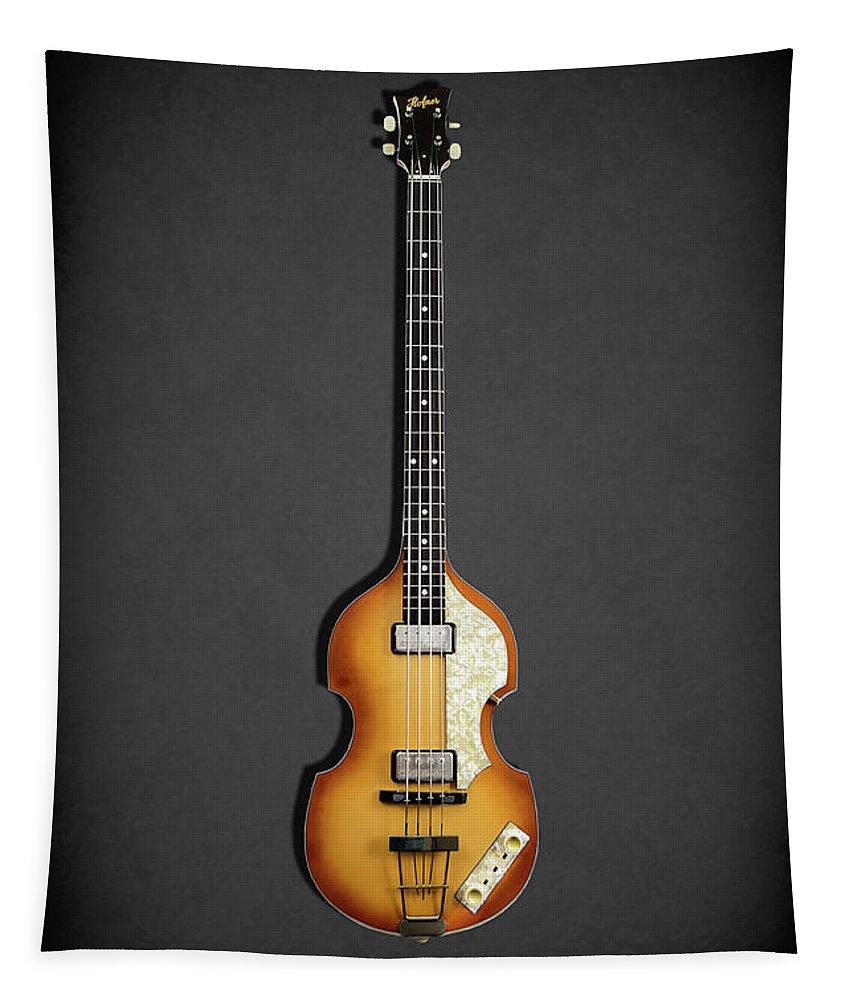 Hofner Violin Bass Tapestry featuring the photograph Hofner Violin Bass 62 by Mark Rogan