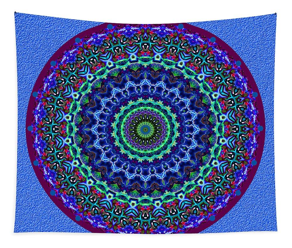 Digital Tapestry featuring the digital art Holiday Wreath No. 2 by Joy McKenzie