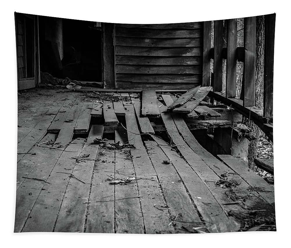 Abandonded Tapestry featuring the photograph Holy Ground by Enzwell Designs