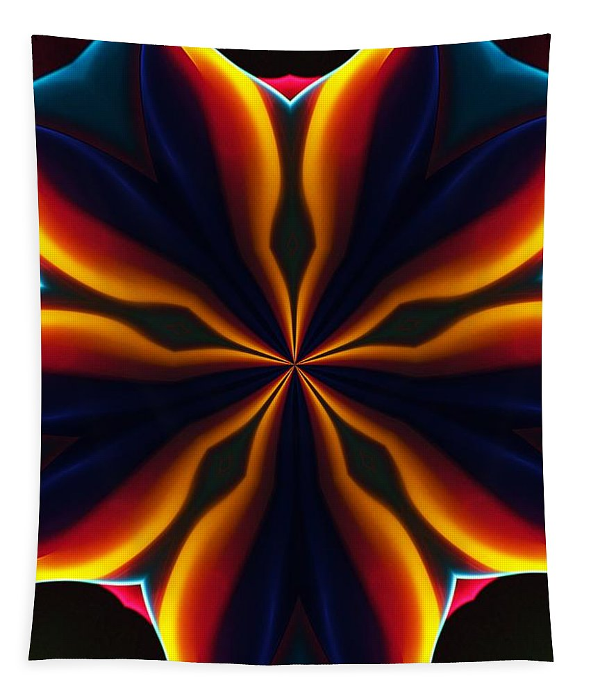 Abstract Tapestry featuring the digital art Homage to Georgia O'Keeffe by David Lane