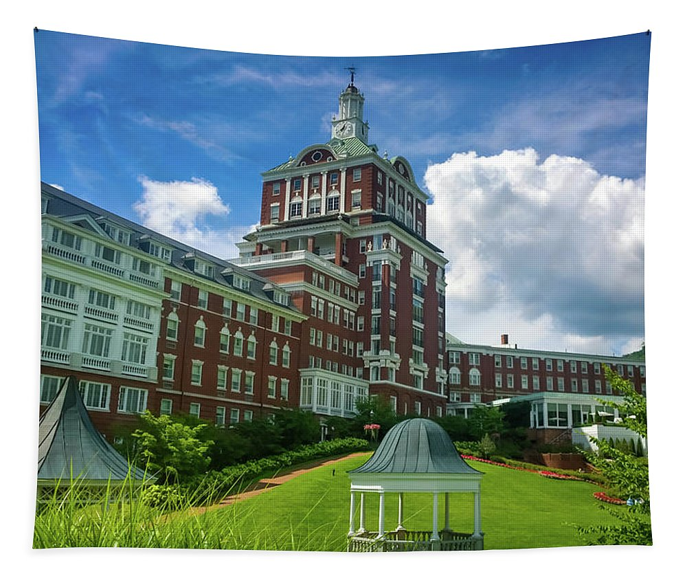 Homestead Hotel Tapestry featuring the photograph Homestead Omni Hotel by Karen Wiles