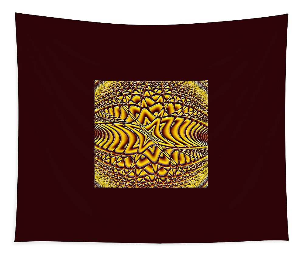 Fractals Tapestry featuring the digital art Honeycomb by Dragica Micki Fortuna