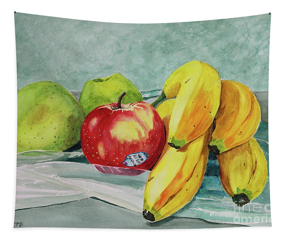Still Life Painting Tapestry featuring the painting Honeycrisp by Patty Strubinger