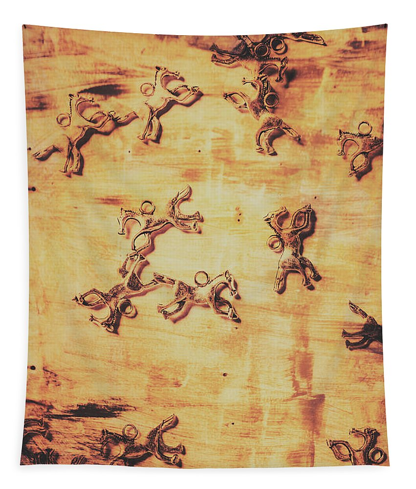 Parchment Tapestry featuring the photograph Hoofs Parade by Jorgo Photography - Wall Art Gallery