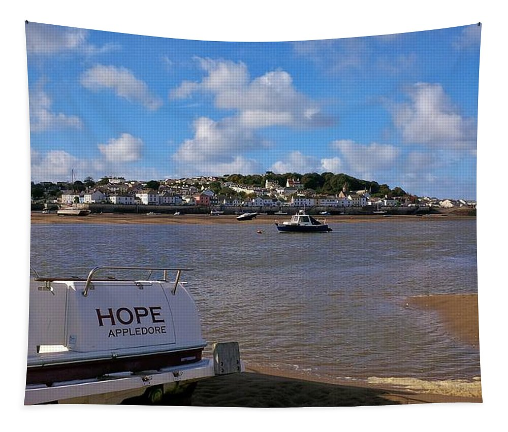 Hope Tapestry featuring the photograph Hope Appledore Devon by Richard Brookes