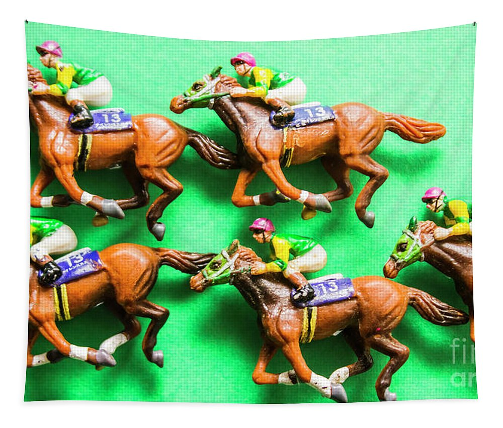 Horse Tapestry featuring the photograph Horse Racing Carnival by Jorgo Photography - Wall Art Gallery