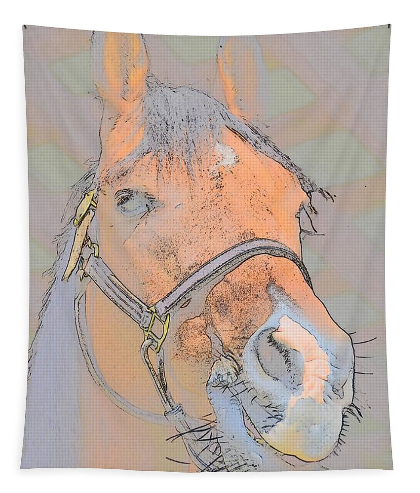 Horse Tapestry featuring the digital art Horse by Robert Nelson