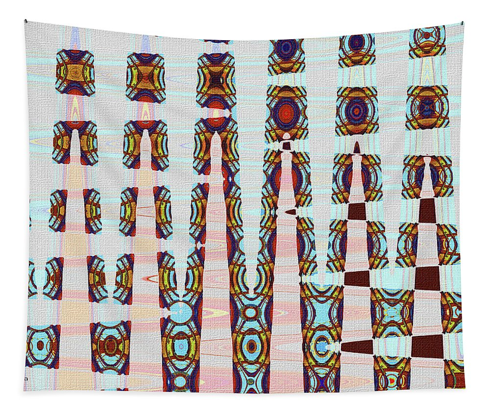 Hosiptal Construction Abstract #2 Tapestry featuring the digital art Hosiptal Construction Abstract #2 by Tom Janca