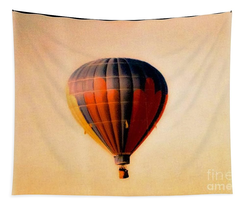 Hot Tapestry featuring the photograph Hot Air Balloon by Debra Lynch