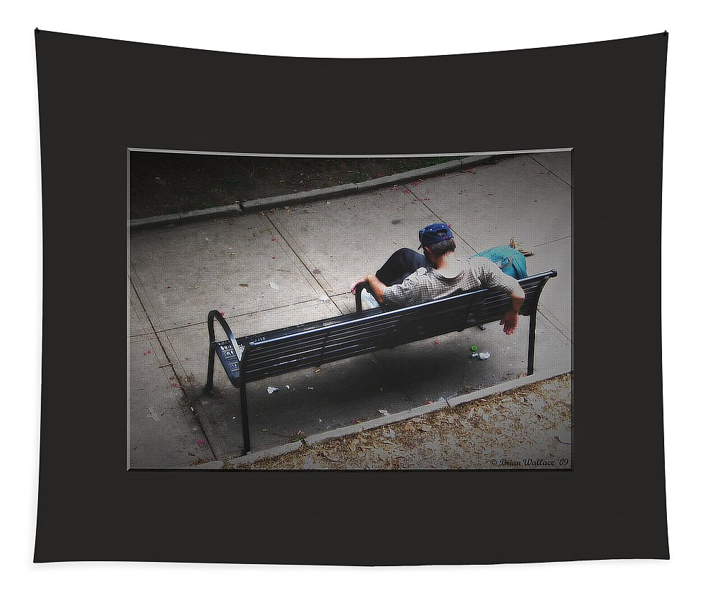 2d Tapestry featuring the photograph Hot And Homeless by Brian Wallace