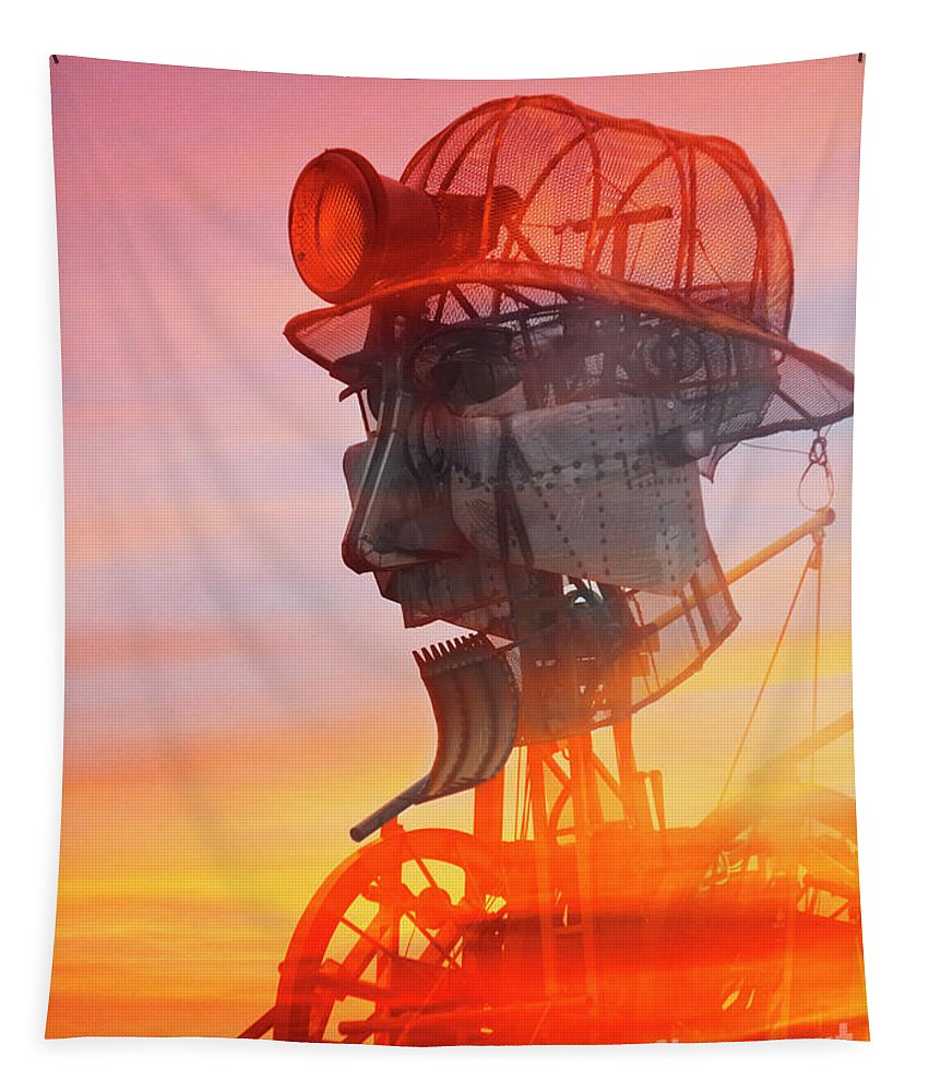 Man Engine Tapestry featuring the photograph Hot And Steamy Man Engine by Terri Waters