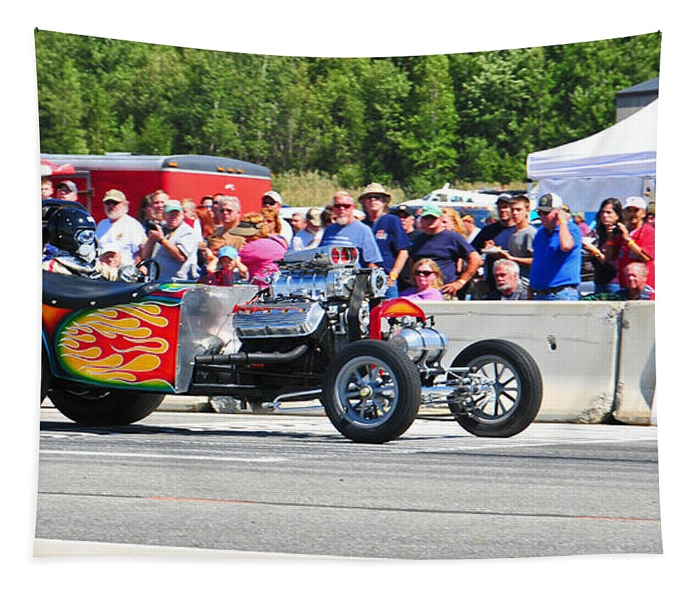 Hot Rod Tapestry featuring the photograph Hot Hot Rod by Mike Martin
