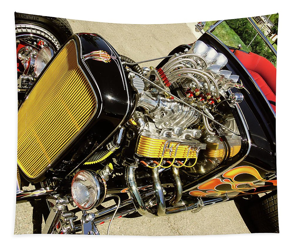 Hotrods Tapestry featuring the photograph Hot Hotrod by Robert VanDerWal