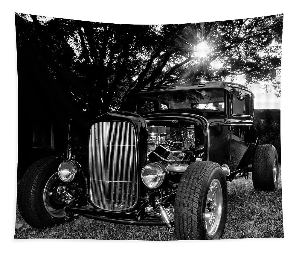 Ford Model A Tapestry featuring the photograph Hot Rod - Ford Model A by Bill Cannon