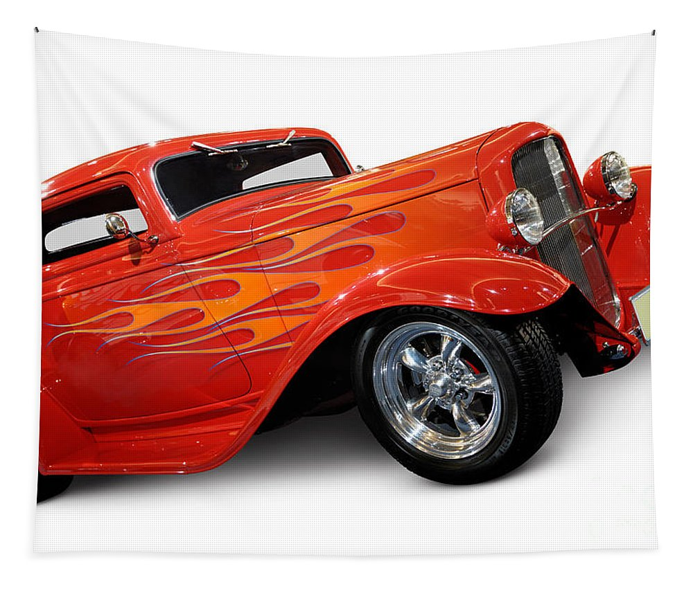 Hot Rod Tapestry featuring the photograph Hot Rod Ford Coupe 1932 by Maxim Images Prints