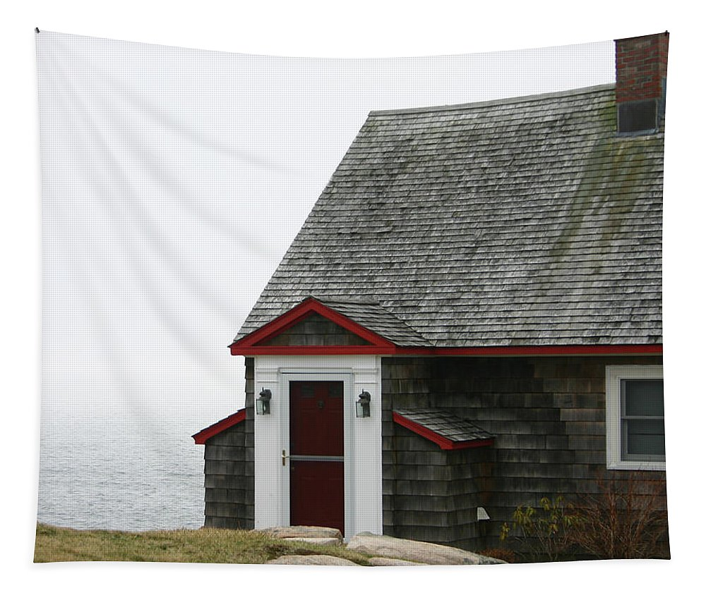 Sea Tapestry featuring the photograph House By The Sea by Wendy Raatz Photography