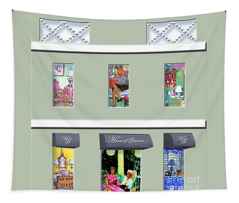 Interior Design Tapestry featuring the painting House Of Gleason by Candace Lovely