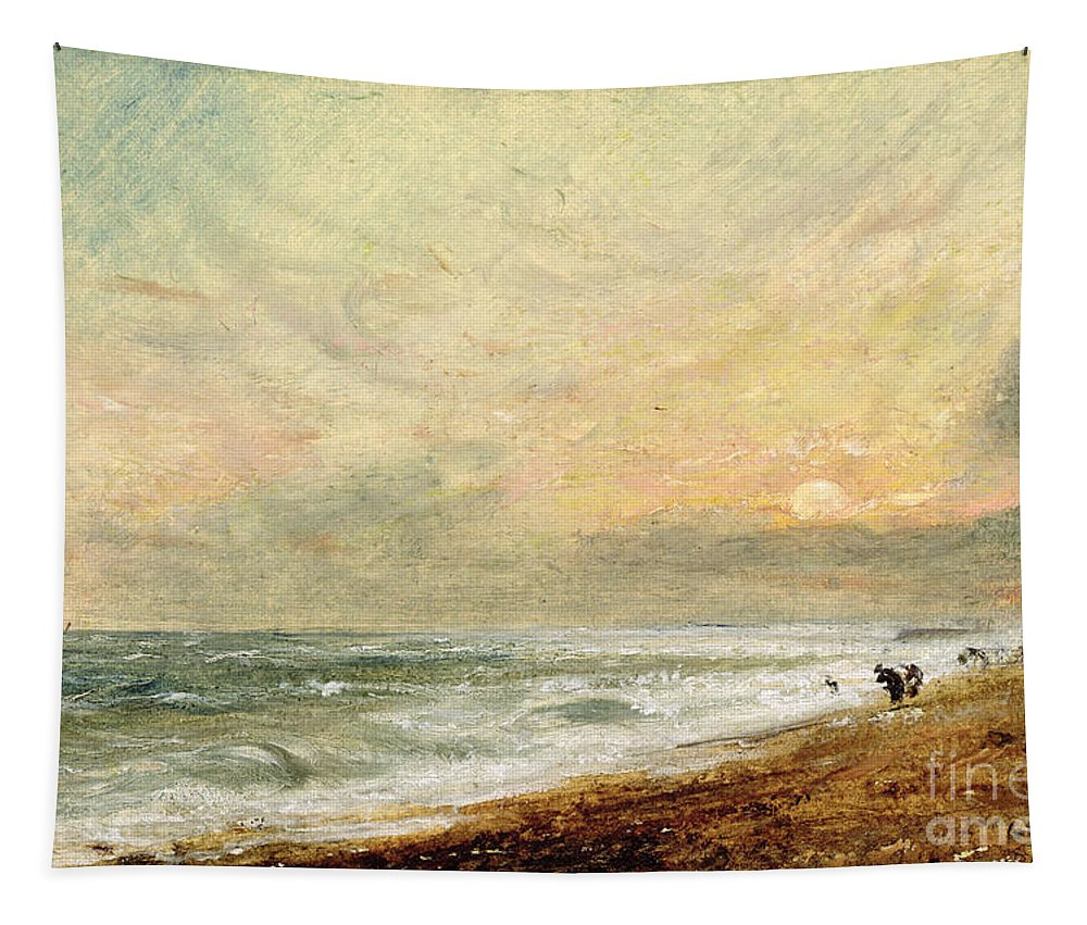 Xyc174465 Tapestry featuring the photograph Hove Beach by John Constable