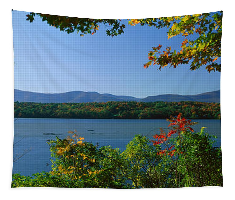 Photography Tapestry featuring the photograph Hudson River In Autumn, Rhinebeck, New by Panoramic Images