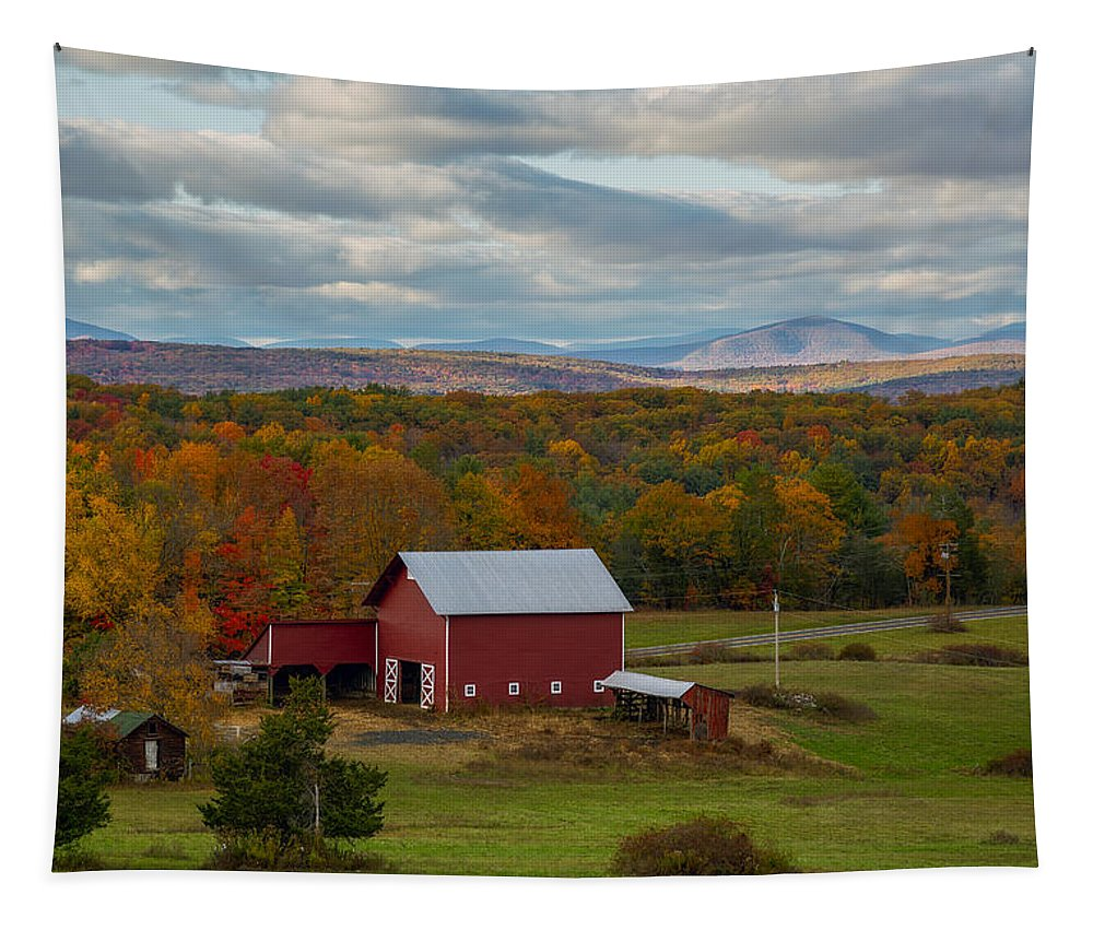Autumn Tapestry featuring the photograph Hudson Valley Ny Fall Colors by Susan Candelario