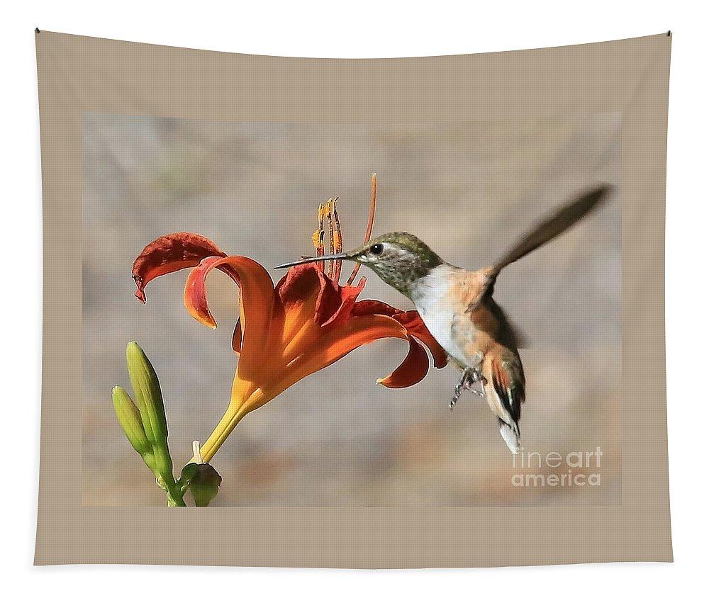 Hummingbird Tapestry featuring the photograph Hummingbird Whisper by Carol Groenen
