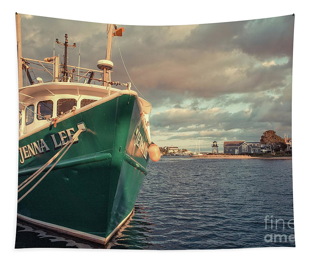 Massechuettes Tapestry featuring the photograph Hyannis Harbor Cape Cod Massachusetts by Edward Fielding