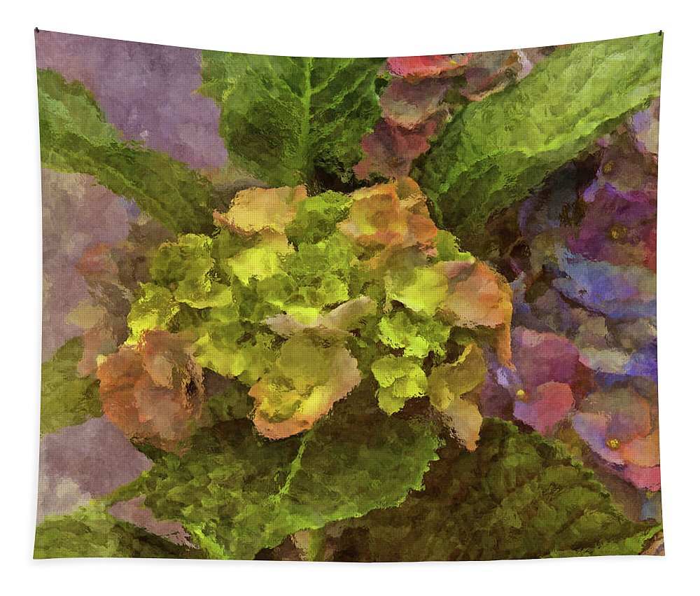Hydrangea Tapestry featuring the photograph Hydrangea Blossoms by HH Photography of Florida
