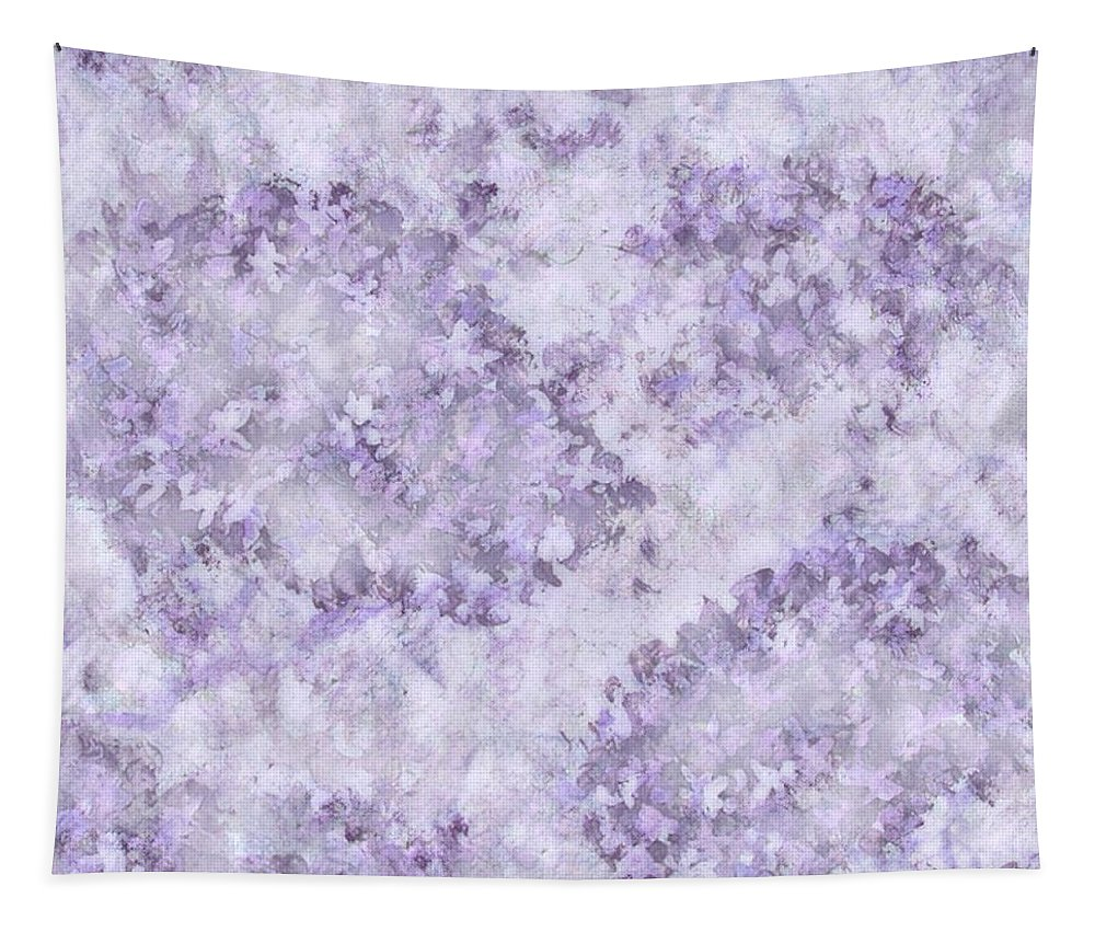 Abstracts Tapestry featuring the digital art Hydrangea Digital In Lilac by Megan Walsh