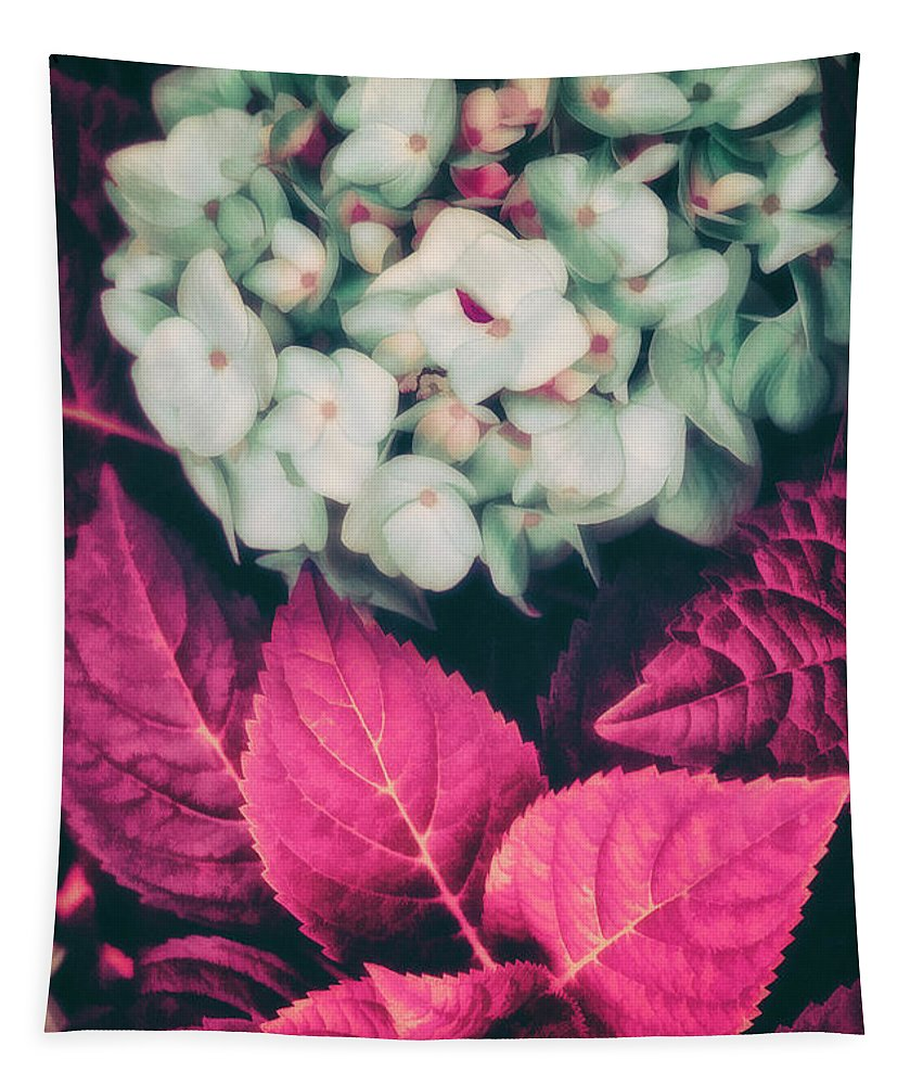 Hydrangea Tapestry featuring the painting Hydrangea by Mindy Sommers