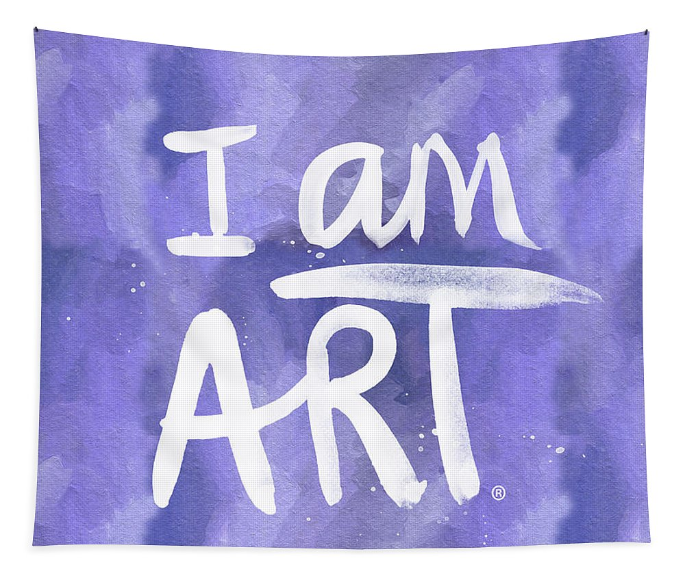 I Am Art Tapestry featuring the painting I Am Art Painted Blue And White- By Linda Woods by Linda Woods