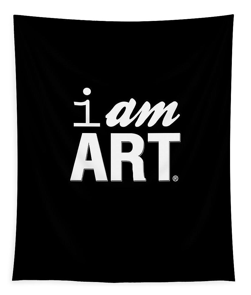 Art Tapestry featuring the digital art I AM ART- Shirt by Linda Woods